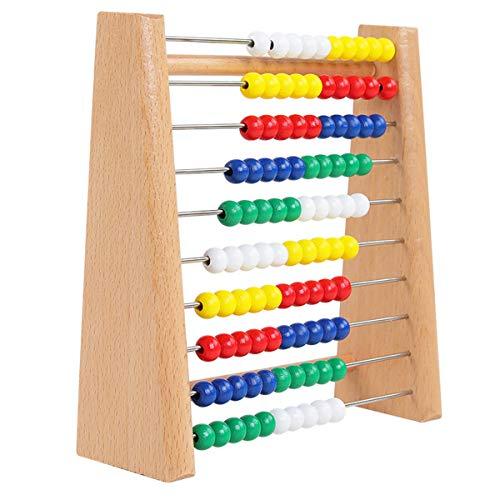 """BELTI 6.5""""Abacus Classic Wooden Toy 123 Aprendizaje de matemáticas Contando Cuentas Educativas"""