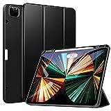 ZtotopCases Funda para iPad Pro 12.9 2021, Ultra Delgada Smart Cover Carcasa con Soporte Incorporado de Pencil- Ligero, Función de Auto-Sueño/Estela, Fundas iPad Pro 12.9 5ª generación,Negro