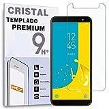 REY Protector de Pantalla para Samsung Galaxy J6 2018, Cristal Vidrio Templado Premium