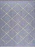 Siela Alfombra lavable en lavadora de fácil cuidado, resistente y libre de sustancias nocivas, varios diseños y tamaños, alfombra de salón gris (80 x 150 cm)