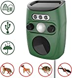 Cat Repellent, Solar Ultrasonic Animal Repeller Outdoor Pest Repellent With Motion Sensor