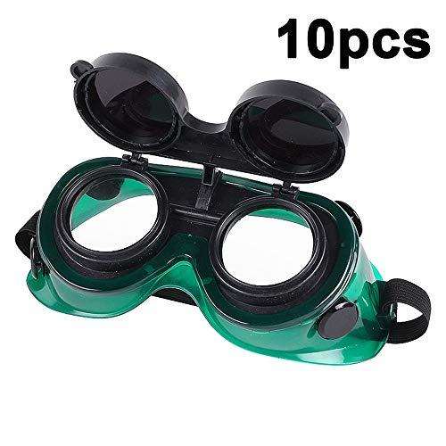 10Pcs Gafas De Soldadura Máscara De Ojos Gafas Gafas