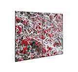 Furnigo 20554 - Juego universal de 2 paneles de cristal para cortar y cubierta para placa de cocina,...
