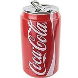 Coca-Cola Coke - Vaso con tapa, color rojo, cerámica, Verre Isotherme Canette Rouge