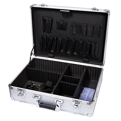 Small Aluminum Hard Case Briefcase Silver Carrying Case Flight Cases Portable Equiment Tool Case Box008A-S