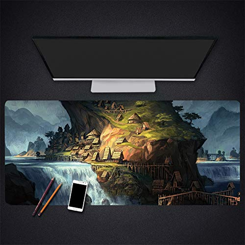 Uitgebreide Gaming Mouse Pad Landschap Patroon Gaming Mouse Pad Games Pc Gamer Laptop Mouse Pad 30 * 60 naar 40 * 90 Cm Grote Muis Mat, 600 * 300 * 3mm