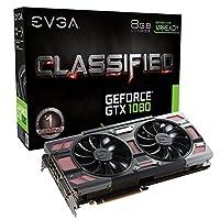 EVGA GeForce GTX 1080 8GB CLASSIFIED GAMING ACX 3.0, w/ Adjustable RGB LED Graphics Card 08G-P4-6386-KR [並行輸入品]