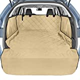 Cargo Liner, Veckle SUV Cargo Cover for Dogs with Side Flaps Hammock Waterproof Nonslip Dog Seat Cover Cargo Area Protector Scratchproof for SUVs Sedans Vans Khaki
