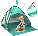 UPF 50+ Easy Pop Up Beach Tent Sun Shelter 3-4 Person Instant Automatic