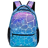 Mochila escolar Abstract Mosaic Pink Blue Backpack Bookbag Teens Childrens Adjustable School Bag College Students For Book, Clothes