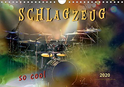 Schlagzeug - so cool (Wandkalender 2020 DIN A4 quer): Schlagzeug, das Instrument, dass nicht nur den Musiker, sondern während eines Konzertes auch den ... (Monatskalender, 14 Seiten ) (CALVENDO Kunst)