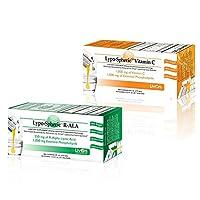 飲む点滴サプリ Lypo-Spheric vitaminC リポスフェリック ビタミンC 30包 とR-ALA アルファリポ酸30包 海外直送品