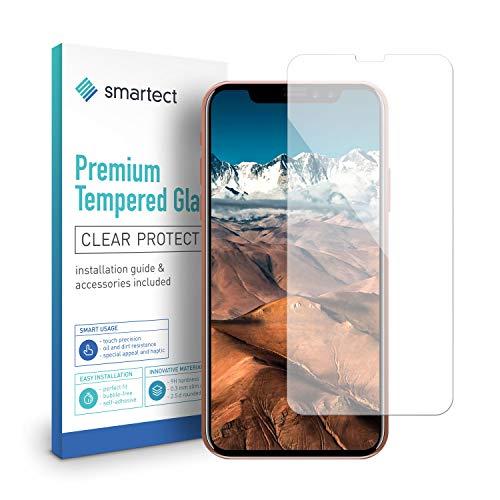 smartect Beschermglas compatibel met iPhone X - screen protector met 9H hardheid - bubbelvrije beschermlaag - antivingerafdruk kogelvrije glasfolie