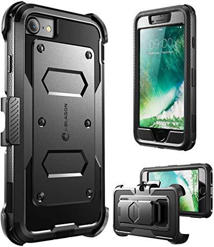 i-Blason Armorbox, Custodia per Apple iPhone 7 / iPhone 8 con protezione per schermo e riduzione impatto, Nero