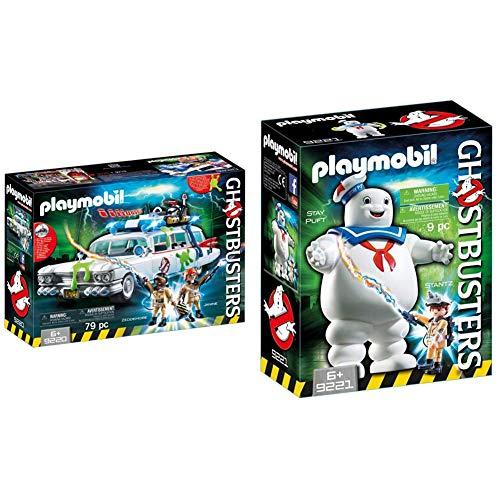 Playmobil 9220 Ghostbusters Ecto-1 & 9221 Omino Marshmallow E Stantz