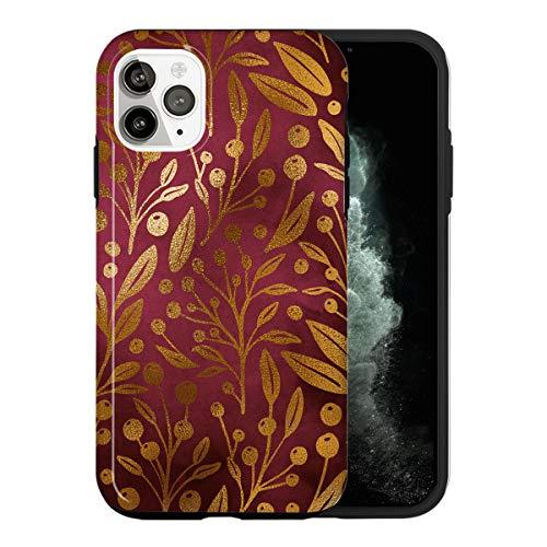Sconosciuto iPhone 12 PRO Max Custodia, Luxury Leaves KU020_5 Custodia per iPhone 12 PRO Max Protettiva, Gorgeous Phone Cover, Popular Trendy Fashionable [Guscio Resistente in Plastica Dura]