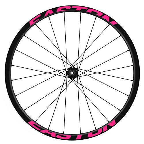 Pegatinas Llantas Bicicleta 29' WH41 Easton VINILOS Ruedas Rosa Fluor