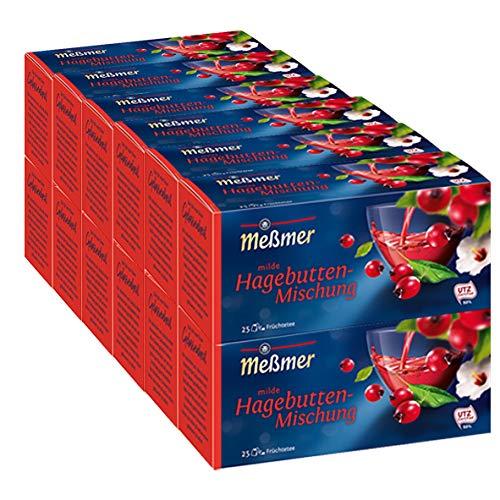 Meßmer Hagebutte, 12er Pack (12 x 25 x 3,5 g Packung)