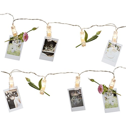 Fotolijn met verlichte knijpers, bruiloft, decoratie, accessoire bruiloft, decoratie, bruiloft, slinger, lichtsnoer, 2 meter