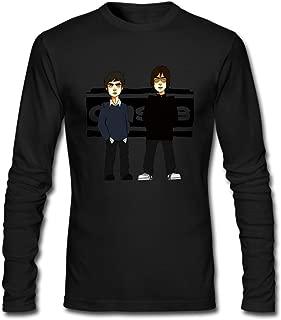 Hefeihe DIY Oasis Cartoon Logo Men's Long-Sleeve Fashion Casual Cotton T-Shirt