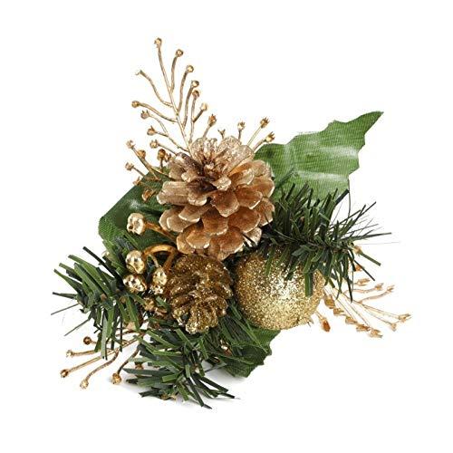 CROSYO 1 unid Artificial Pino Tallos Falso Pino Cono Caja de Regalo Navidad Flores Ornamento arreglos de Flores Guirnalda casa de Vacaciones Invierno decoración (Color : As Shown)