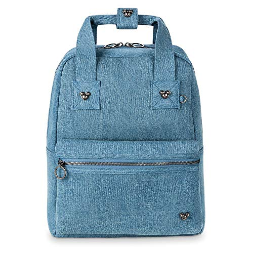 Disney Mickey Mouse Icon Pin and Flair Denim Backpack