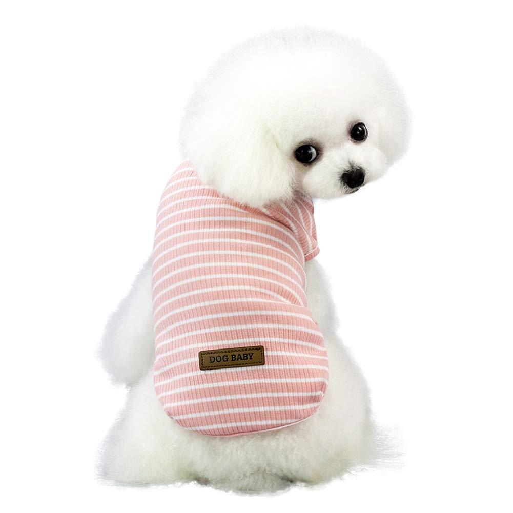 Handfly Perro pequeño Cachorro Franja Camisetas Perro Chaleco Camiseta Perro Camiseta para Perro pequeño Perros Camisetas de Verano Perro Mascota Chaleco Camiseta Ropa para Perros pequeños Gatos: Amazon.es: Productos para mascotas