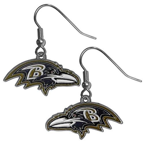 NFL Siskiyou Sports Womens Baltimore Ravens Dangle Earrings One Size Team Color