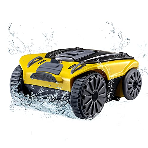 AEROBICS LIFE Cordless Robotic Pool Cleaner, Automatic Pool Cleaner with Max 90 Mins Working Time, IPX8 Waterproof Lightweight Design, 2L Load Filter Basket, Suitable for 538 Sqft Pool