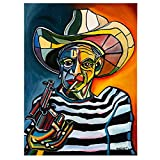 zkpzk Arte Famoso Picasso Pinturas En Lienzo Hombre Abstracto Rostro Retrato Carteles Impresión Imagen De Arte De Pared para Sala De Estar Decoración De Pared Cuadros -50X70Cmx1 Sin Marco