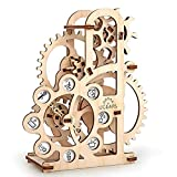 UGEARS Dinamómetro Mecánico 3D Rompecabezas de Madera Kit de Construcción Sin Pegamento Para Niños y Adultos