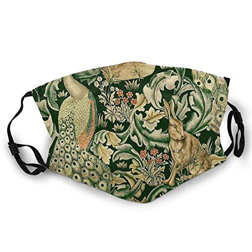 FrancisGuo - Máscara de esquí con estampado de animales del bosque, pavo real, zorro y liebre, para mujeres y hombres