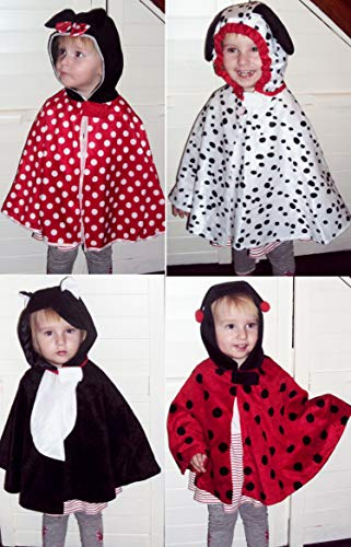 Disfraz infantil para carnaval, gato, perro, dálmata, ratón, escarabajo, capa (mariquita)