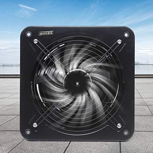 Ventilador extractor de cocina de pared industrial, salida de metal, 300 mm, 2850 mL/h, extractor de aire para montaje en pared