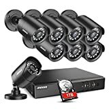 ANNKE 5MP Lite Security Camera System Outdoor 8 Channel H.265+ DVR and 8X1920TVL IP66 Weatherproof Home CCTV Cameras, Smart Playback, Instant Email Alert with Images, 1TB Hard Drive-Y200