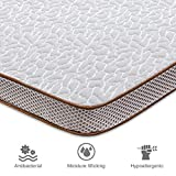 BedStory Gel Memory Foam Mattress Topper, 2 Inch Gel Infused High Density Cooling