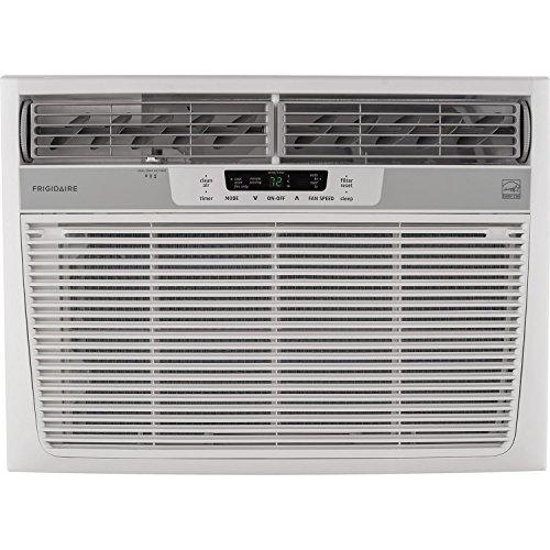 Frigidaire 18,000 Btu 230V Window-Mounted Median Air Conditioner with Temperature Sensing Remote Control, White