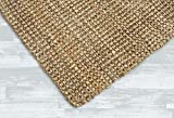 Irongate Classic Jute Solid Handwoven Reversible Ribbed Jute Area Rug, 4' X 6', Natural