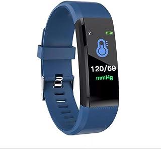 Lamkei Bouncefit Fitness Smart Watch, Alarm, Heart Monitor, Pulse, Sports, Blue Strap- QRB-1034 Men's Women's Smartwatch