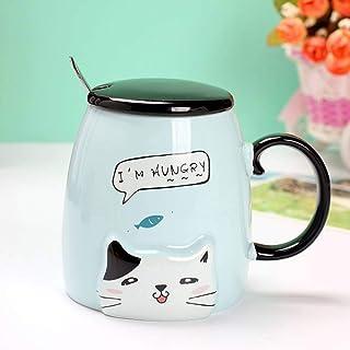 Mugg i keramik med roligt kattmotiv.