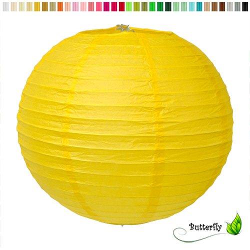 Creativery Papier Lampion 25cm (gelb 645) // Laterne Hochzeit Party Wohnungsdeko Hängedeko Raumdeko Geburtstag Party Feier