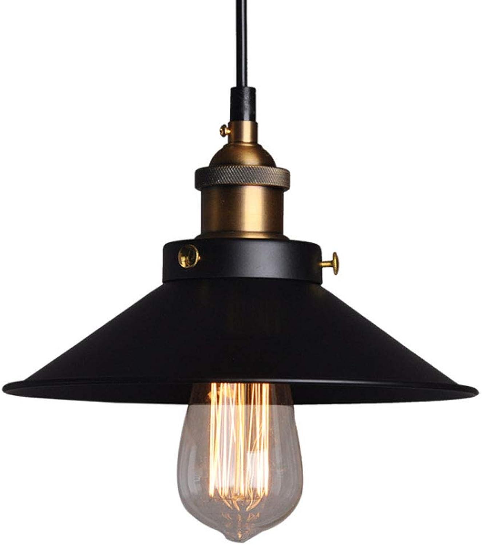 LL Chandelier Restoring Ancient Ways Minimalist Pendant Light Bedroom Bar Cafe Living Room Lighting,schwarz,36cm