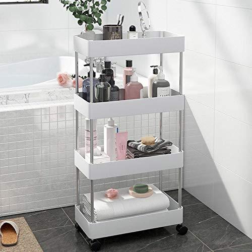 alvorog 5-Shelf Shelving Storage Unit Heavy Duty Metal Organizer Wire Rack with Leveling Feet and Hooks Adjustable Shelves for Bathroom Kitchen Garage (23.2Lx13.3Wx59H)