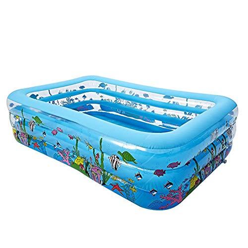 xlcukx - Piscina hinchable para niños, jardín y exterior, patio trasero, para niños, verano, resistente al desgaste, plegable