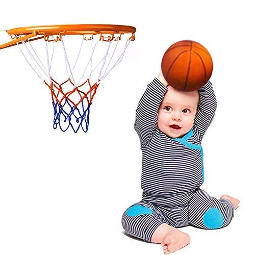Iwinna HangRing - Juego de aro de baloncesto, diseño de canasta de baloncesto con red para interiores y exteriores, 32 cm de diámetro