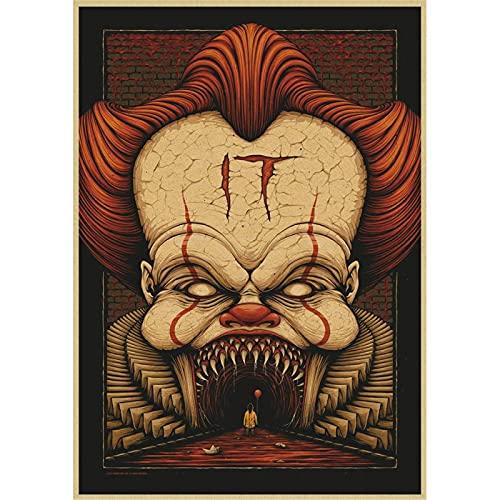 LWJPD Cuadro sobre Lienzo 30x45cm Sin Marco Póster De Película De Terror Stephen King'S ItPóster Pintura Cuadro De Arte De Pared Para La Decoración Del Hogar De La Sala De Estar