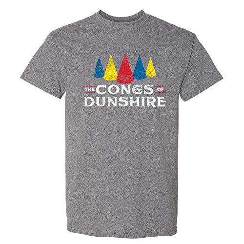 Cones of Dunshire - Funny Ben Board Game Parody T Shirt - Medium - Graphite Heather