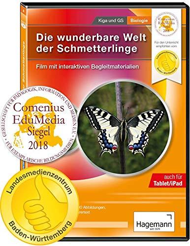 Die wunderbare Welt der Schmetterlinge - Film mit interaktiven Begleitmaterialien auf DVD für DVD-Player, PC, Tablet, Beamer und Whiteboard - Hagemann 18680 - Einzel- und Schullizenz