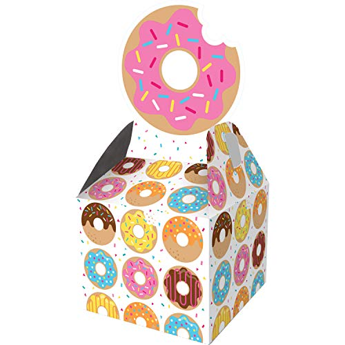 """Creative Converting Donut Favor Boxes Party Supplies, 9.15"""" x 3.5"""" x 3.5"""", Multicolor"""