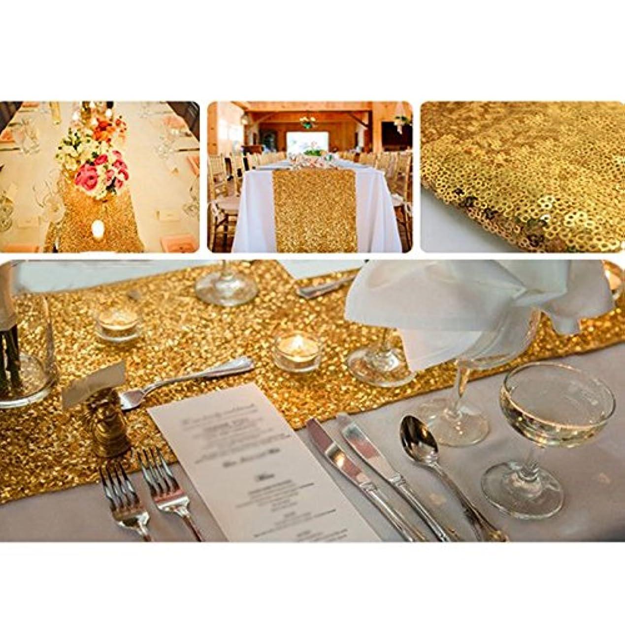 困ったしないでください既婚Kicode (ゴールド) パーティーウェディング誕生日パーティクリスマスパーティー スパークリースパンコールテーブルランナー